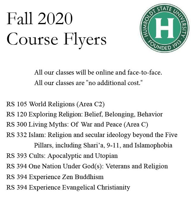 RS Course Flyers for Fall 2020