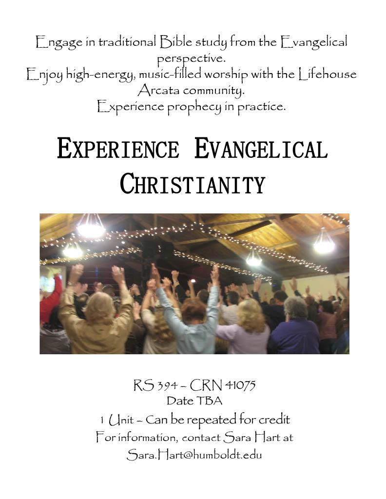RS 394 Experience Evangelical Christianity