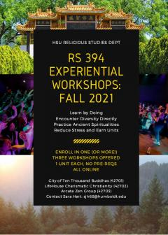 RS 394 Experiential Workshops
